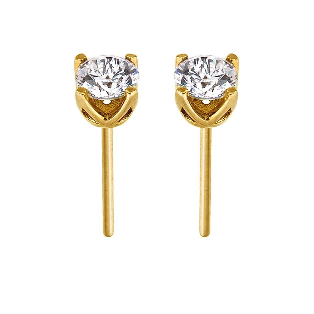 Σκουλαρίκια Μονόπετρα Χρυσά Κ14 με Ζιργκόν – Φανουράκης  42f53ed9c15