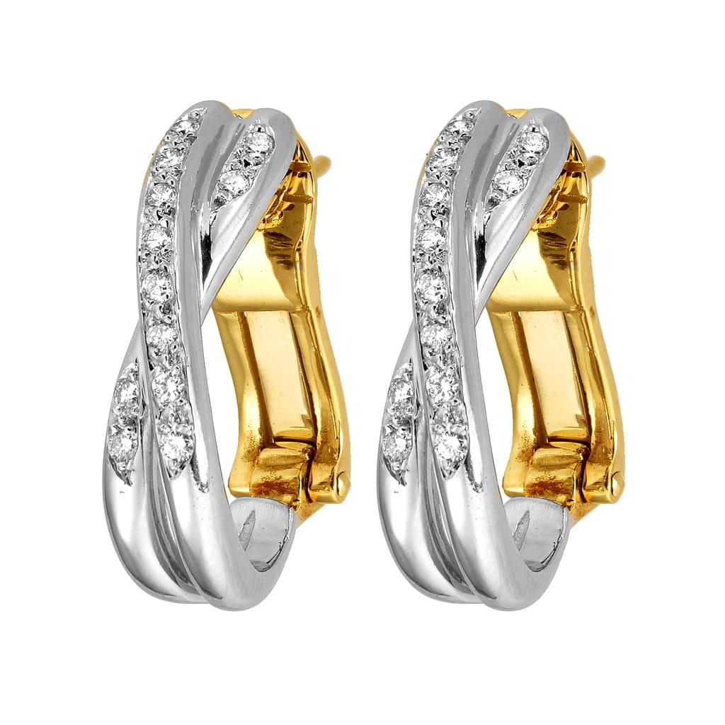 Σκουλαρίκια Κ18 Χρυσό και Λευκόχρυσο με Διαμάντια – Φανουράκης ... d9d627e0afc